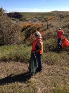 WBRA Executive Director Nora Manners helping keep Alberta's highways clean ! Photo Credit: Bev Bellamy