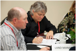WBRA Chair Jeff Bectell and Executive Director Nora Manners facilitating EuroMAB 2013 discussion on land management in biosphere reserves.