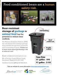 Bear Resistant Garbage Poster